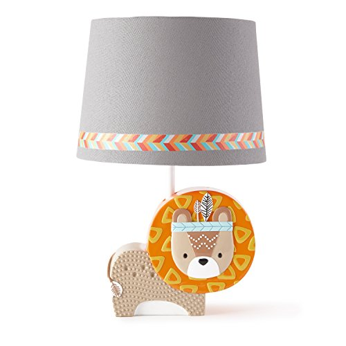 Levtex Home Baby Zambezi Lamp Base and Shade, Grey (Boy Baby Lamp Shade)