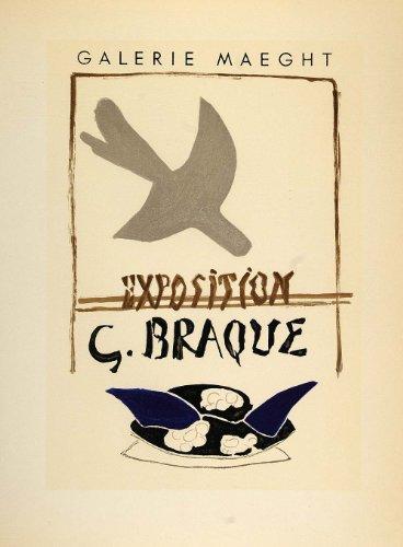 1959 Lithograph Georges Braque Poster Art Galerie Maeght Bird Mourlot Freres - Original Lithograph