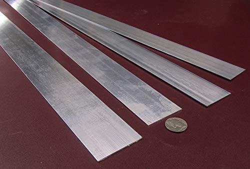 6061-T6 Aluminum Bar Stock.062 Thick x 1.75 Width x 36.00 Length 3 Pcs.