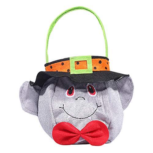 Shaoge Kids Halloween Pumpkin Candy Bag Handbag Portable Tote Holiday Party Decoration Gift ()