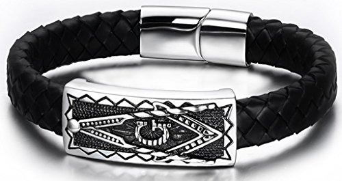 Golastartery Vintage Stainless Masonic Bracelets