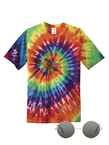 [70s Hippie Costume Kit, Tint 4X-Large] (Tye Dye Hippie Costumes)