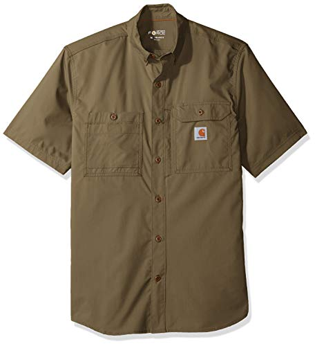 Carhartt Men's Force Ridgefield Short Sleeve T-Shirt (Regular and Big & Tall Sizes), Burnt Olive, X-Large