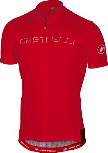 Castelli Prologo V Jersey - Men's Red, M from Castelli