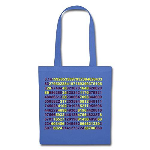 Light Spreadshirt Numerical Sequence Light Blue Numerical Tote Sequence Tote Maths Bag Maths Pi Pi Spreadshirt Bag F0gXqx