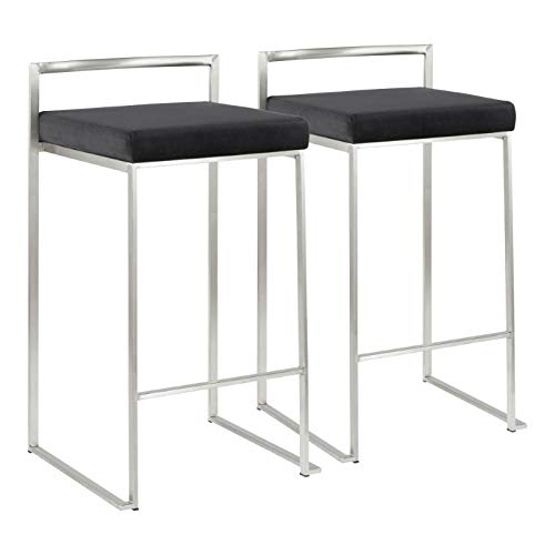 LumiSource 31 in. Stacker Counter Stool - Set of 2