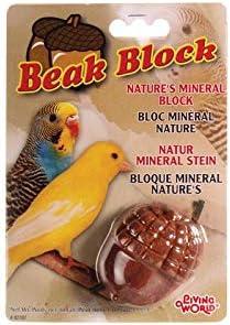 Living WorldBloque Mineral para Pájaros, con SaborBellotaMarrón