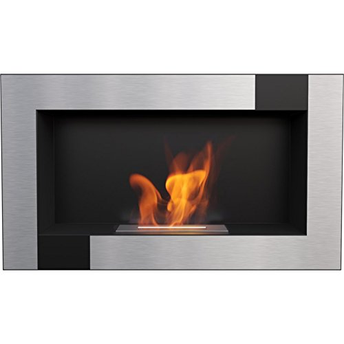 (Domadeco Georgia Black QUBE wall mounted bioethanol fireplace modern style fireplace)