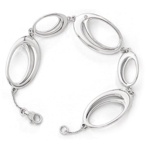 Icecarats Créatrice De Bijoux Art .02Ct De Glace Blanche. Bracelet De Diamants De 7 Pouces