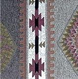 BARN WOOD ROCKER W/ FABRIC BACK & SEAT (Southwest Stripe)