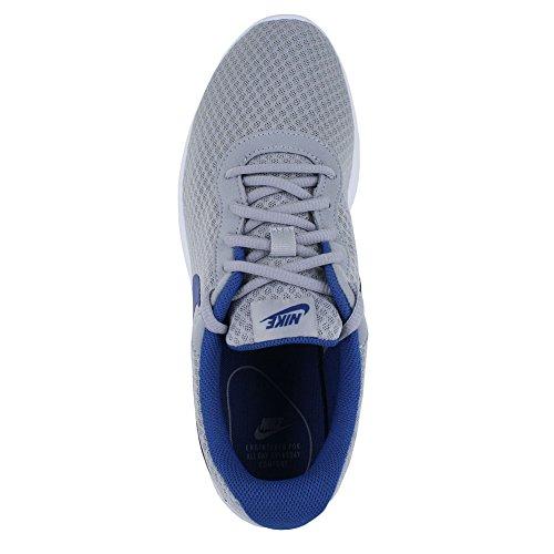 Nike Herren Tanjun Print Laufschuh Wolf Grey Gym Blau Weiß