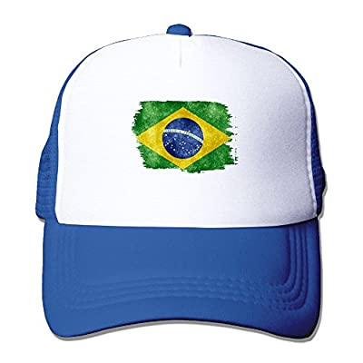 Men/Women Brasil Distressed Flag Mesh Snapback Hats Adjustable Street Rapper Hat