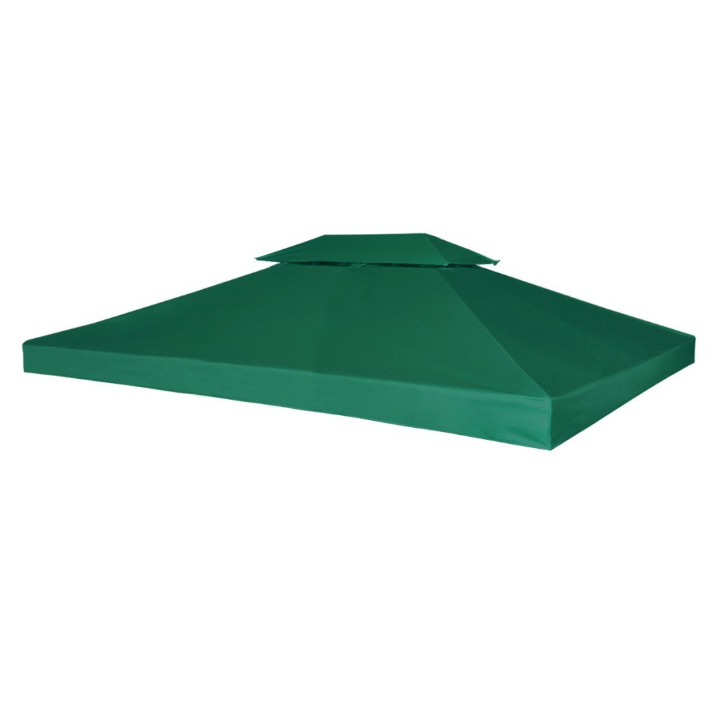Festnight Copertura per Tenda Copertura Impermeabile per Gazebo 270 g m² verde 3 x 4 m