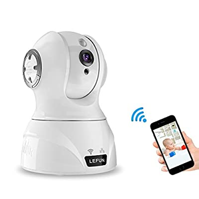 LeFun Wireless Camera, 1080p Pan/Tilt/Zoom Home Security Camera WiFi IP Surveillance Camera Nanny Cam with Motion Detect Two Way Audio Night Vision for Baby Video Monitor