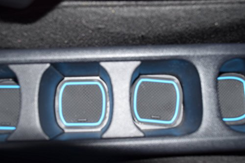 KINMEI Toyota Ractis Ractis P120 system specially designed blue interior door pocket mat drink holder slip non-slip storage space protection rubber mats TOYOTAk-41 by KINMEI (Image #4)