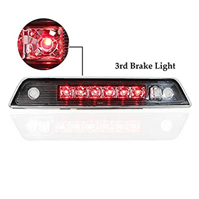 For 2005-2010 Jeep Grand Cherokee Hight Mount LED 3rd Third Tail Brake Light (Chrome Housing Clear Lens): Automotive