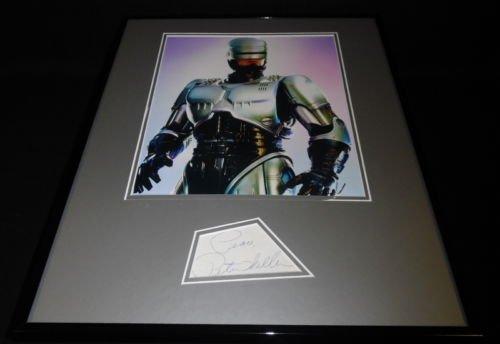 (Peter Weller Signed Framed 16x20 Photo Display Robocop)