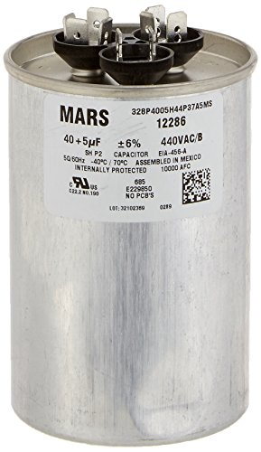 MARS - Motors & Armatures 12286 40 + 5 uF MFD x 440 VAC Genteq Replacement Dual Capacitor