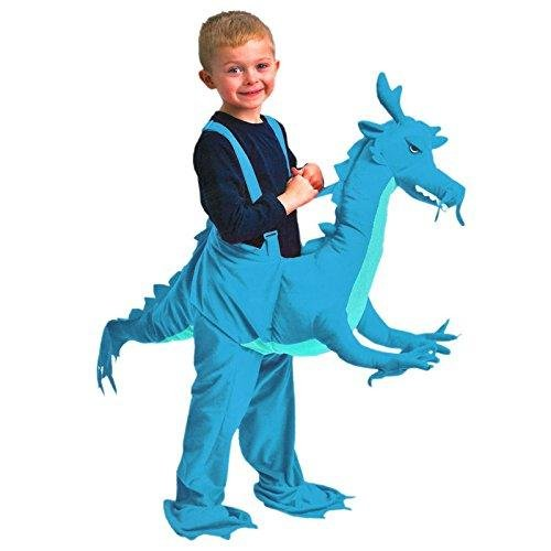 Dragon Rider Child Costumes (Children Dragon Blue Rider Dress Up Fancy Dress Costume Age 3 - 7 Years - Dragon fancy dress - dragon costume by Play & Pretend)