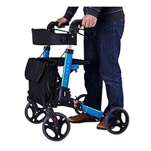 CYYC Caminador para discapacitados Plegable con un Solo Clic, apoyabrazos para Ancianos con Cuatro Patas Silla de bastón Silla Auxiliar Anti caída