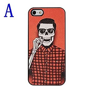 LCJ Man Skull Pattern Pasting Skin Plastic Hard Case for iPhone 5/5S , A