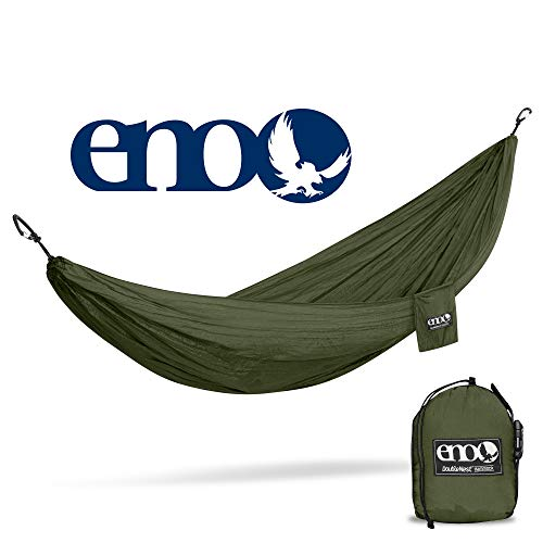 eno – Eagles Nest Outfitters DoubleNest Hammock, Portable Hammock for Two, Olive Olive