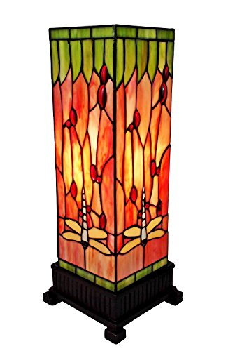 Stained Glass Tiffany Style Dragonflies Light Table Lamp Arrowhead Glass Table Lamp