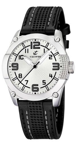 Calypso K5205/1 - Reloj de caballero de cuarzo, correa de piel color negro