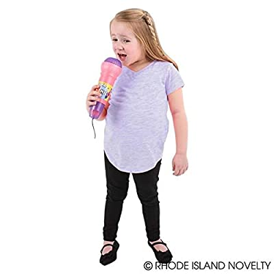 Rhode Island Novelty 10 Inch Echo Microphones, One Dozen Assorted per Order: Toys & Games
