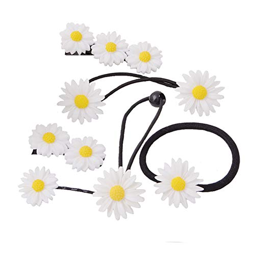 - Lovef 18 Pcs All-match Boutique Pastoral Little Daisy Flower Hair Accessories Hair Clips Bobby Pins Barrettes Elastic Hair rope Band Ties headdress hair beauty tool