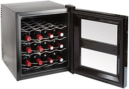 WINE & CIE GS113 - Botellero con 16 botellas, color negro