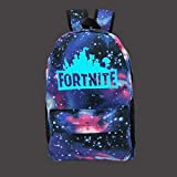 Fort Loot Fortnite Galaxy World Logo Luminous Backpack School Supplies - Kids Glow in The Dark School Bag Gift