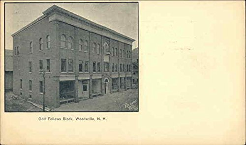 Odd Fellows Block Woodsville, New Hampshire Original Vintage Postcard