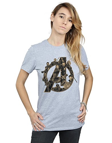 Infinity Logo Ragazzo Shirt Donna T Sportiva Grigio Avventura War xFqYXxvwO