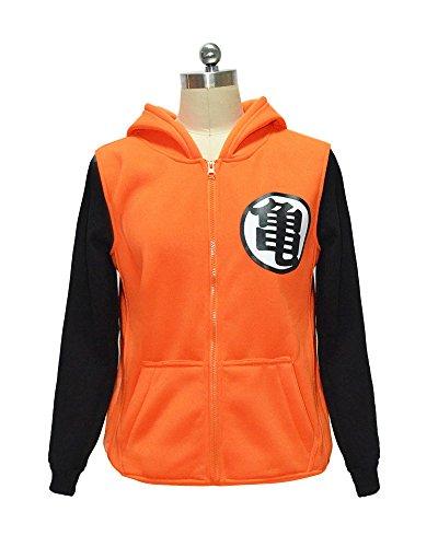 [Miccostumes Dragon Ball Z Son Goku Kame Anime Winter long sleeves Hoodie Jacket Large] (Dragon Ball Z Costume For Adults)