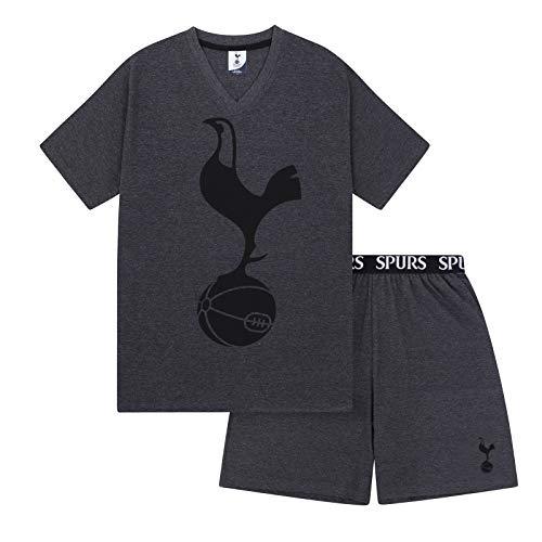Tottenham Hotspur FC Official Gift Mens Loungewear Short Pajamas Grey XL - Hotspur Shirt Tottenham