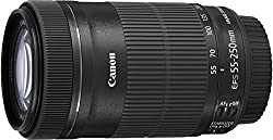 Canon Ef-s 55-250mm F4-5.6 Is Stm Telephoto Zoom Lens International Version (No Warranty)