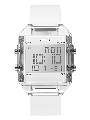 GUESS Men's Digital Casual Silicone Watch, Color: White (Model: U0992G1) - Guess Gc Men Watch
