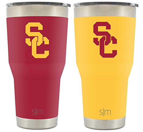 Flip Cup Beer (Simple Modern USC 30oz Cruiser Tumbler 2-Pack - Vacuum Insulated Stainless Steel Travel Mug - University of Southern California Trojans Fight On Tailgating Hydro Cup College Flask)