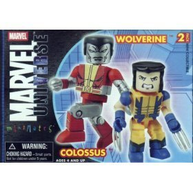 Marvel Mini-Mates Series 13 Astonishing Wolverine and Colossus (Mates Mystery)