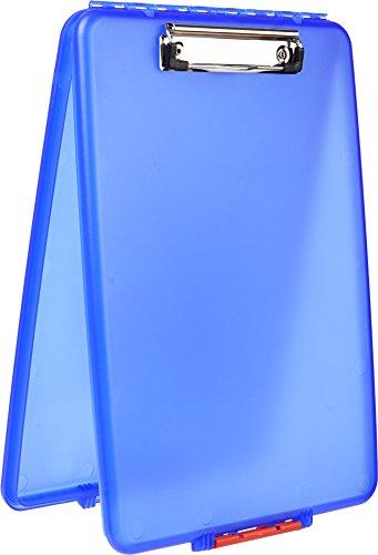 Dexas Slimcase Storage Clipboard, Blue