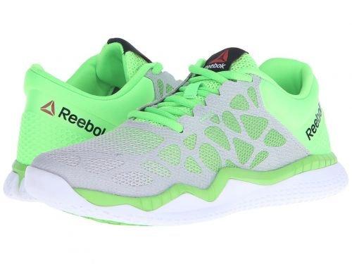 体操選手父方の既婚Reebok(リーボック) レディース 女性用 シューズ 靴 スニーカー 運動靴 ZPrint Train - Steel/Solar Green/White [並行輸入品]