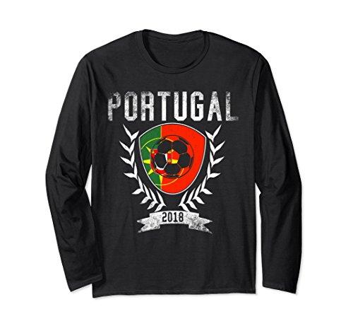 Unisex Portuguese Football 2018 Long Sleeve Shirt Portugal Soccer Large - Portugal Women