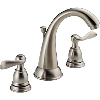 Delta 3592LF-SS Addison 2-Handle Widespread Bathroom Faucet with ...