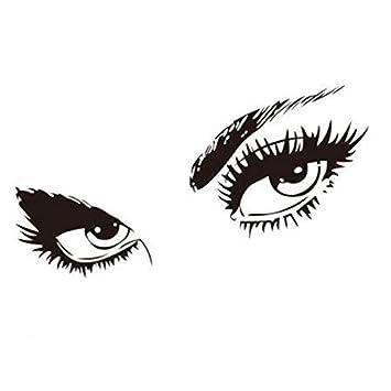 pegatinas adhesivos vinilos decorativos pared bonitos ojos de hepburn sexy removible para sala
