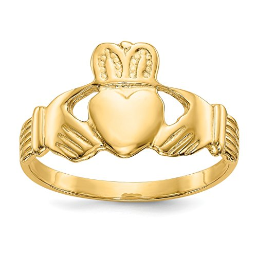 ICE CARATS 14kt Yellow Gold Mens Irish Claddagh Celtic Knot Band Ring Size 9.75 Man Fine Jewelry Dad Mens Gift Set 14kt Gents Claddagh Ring