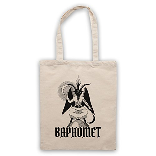 Baphomet Occult Sabbatic Goat Deity Bolso Natural