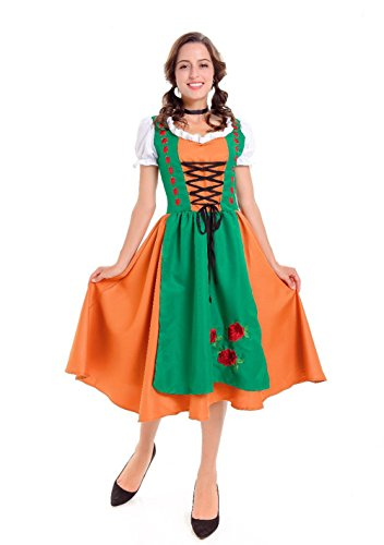 Funny Couple Costumes Ideas (MARIAN Halloween Couples Costume German Oktoberfest Costume for Women(M))