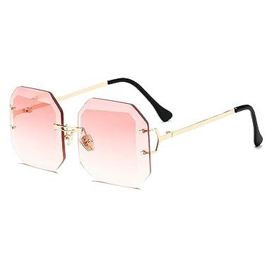 MEIHAOWEI Gafas de sol sin montura Hombres Mujeres Moda ...