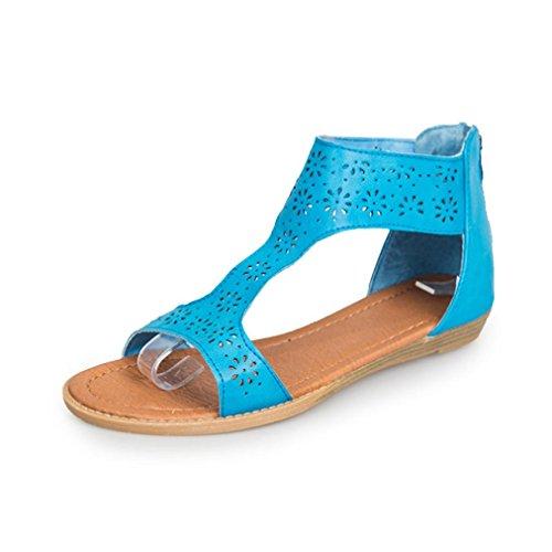Calzado Mujer Tacones De Gladiador Plantilla Chancletas Sandalia UqSVpzM